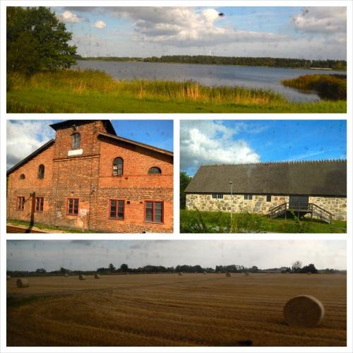 Sepanjang jalan, nemunya ladang gandum, hutan, laut dan bangunan-bangunan bata/batu khas eropah!